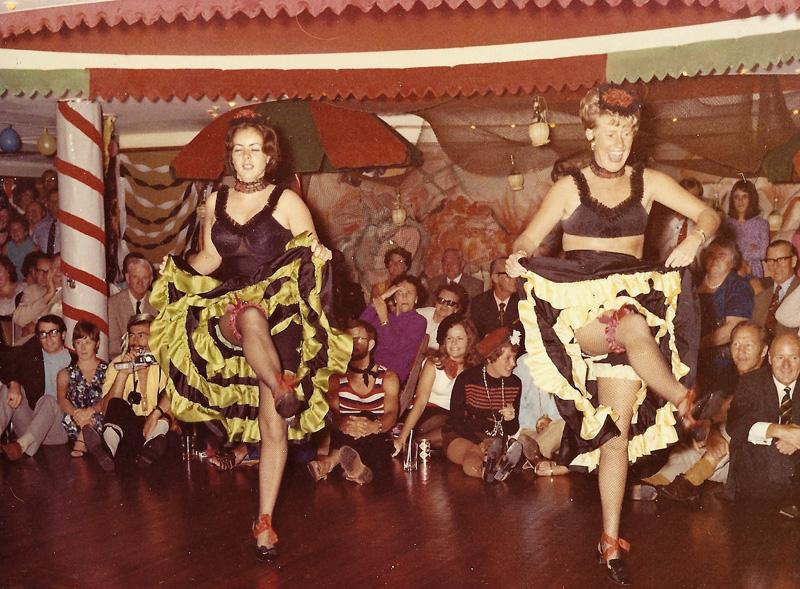 Gillian Angrave dancing at a Bistro night