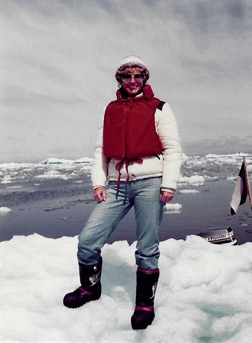 Gillian Angrave, at San Rafael Glacier, Chile
