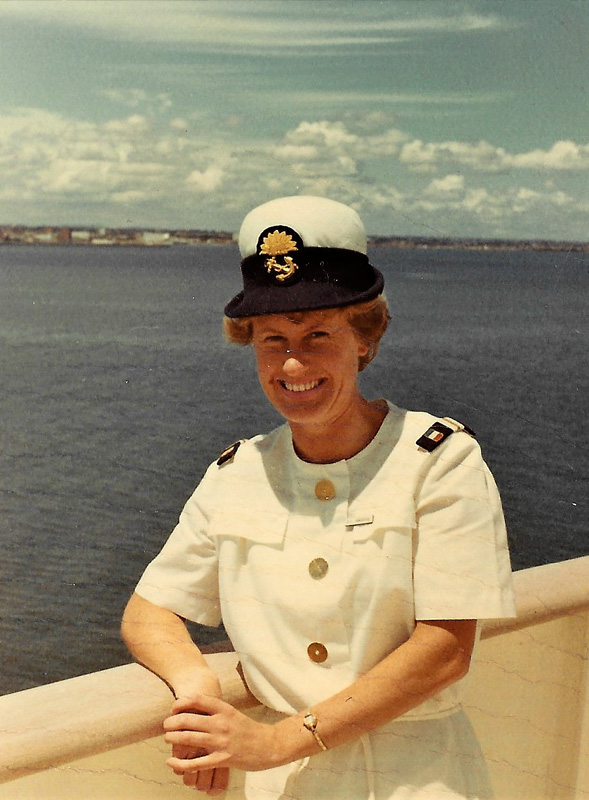 Gillian Angrave in Whites on board P&O Cruiseliner